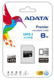 A-DATA 32GB Premier microSDHC UHS-I U1 Card (Class 10), with 1 Adapter, retail