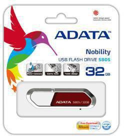 A-DATA 4GB USB2.0 Flash Drive Sport S805, Red