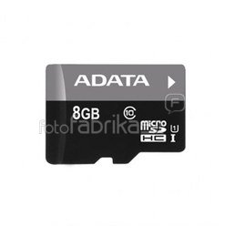 A-DATA 8GB Premier microSDHC UHS-I U1 Card (Class 10), Sequential reads are up to 50 MB/second, and write speeds reach the UHS-I speed class 1 specification, with micro reader V3, retail
