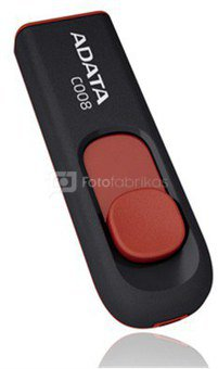 A-Data 8GB USB2.0 Flash Drive C008, black and red