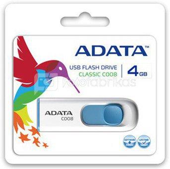A-DATA 8GB USB2.0 Flash Drive C008, white