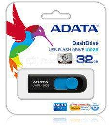 A-DATA DashDrive UV128 16GB Black+Blue USB 3.0 Flash Drive, Retail