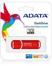 A-DATA DashDrive UV150 32GB Red USB 3.0 Flash Drive, Retail