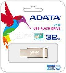 A-DATA FlashDrive UV130 32GB Champagne Golden USB 2.0 Flash Drive, Retail