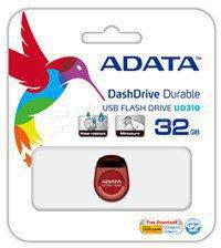 A-DATA Miniature AUD310 32GB Red USB 2.0 Flash Drive
