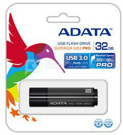 A-DATA S102 Pro Effortless Upgrade 32GB Titanium grey Speed USB 3.0 Flash Drive