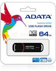 A-Data UV150 64 GB, USB 3.0, Black