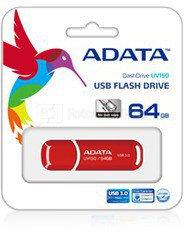 A-Data UV150 64 GB, USB 3.0, Red