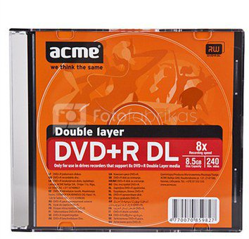 ACME double layer DVD+R 8.5GB 8X slim box