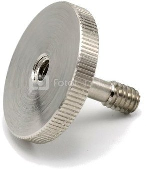 """Caruba adapterschroef 1/4""""M   1/4""""F met metalen grip"""