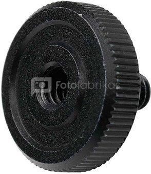 """Caruba adapterschroef 1/4""""M   1/4""""F met metalen grip   zwart"""