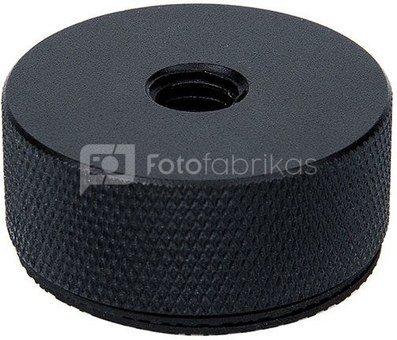 """Caruba adapterschroef 1/4""""M   3/8""""F met metalen grip & rubber dekplaat"""