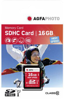 AgfaPhoto SDHC Card 16GB High Speed Class 10 UHS I