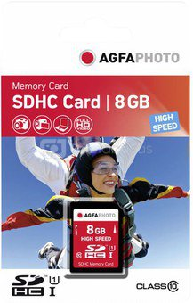 AgfaPhoto SDHC Card 8GB High Speed Class 10 UHS I
