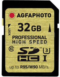 AgfaPhoto SDHC Card UHS I 32GB Professional High Speed U3 95/90