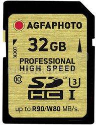 AgfaPhoto SDHC Card UHS I 32GB Professional High Speed U3 80/90