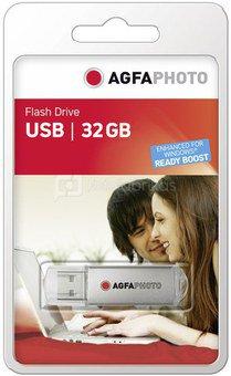 AgfaPhoto USB 2.0 32GB silver USB atminties laikmena
