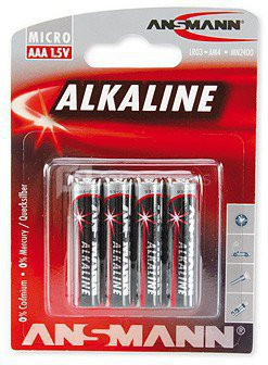 1x4 Ansmann Alkaline Micro AAA LR 03 red-line