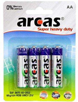Arcas Super Heavy Duty AA (LR06), 4-pack