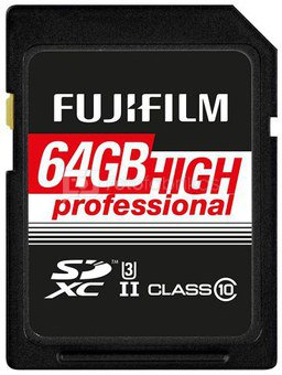 Atminties kortelė Fujifilm SDXC-64GB UHS-II High Prof. C10 EU