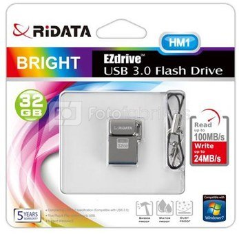 Atmintinė Ridata USB 3.0 32GB HM1 metalinė