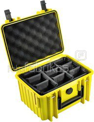 B&W International Type 2000 yellow incl. Padded Divider