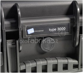 B&W International Type 3000 black incl. pre-cut foam