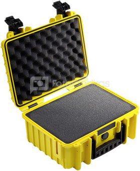 B&W International Type 3000 yellow incl. pre-cut foam