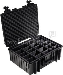 B&W International Type 6000 black incl. Padded Divider