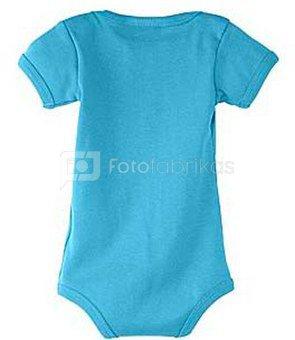 """Kūdikių """"body"""" marškinėliai su Jūsų nuotrauka, užrašu, melsvi"""