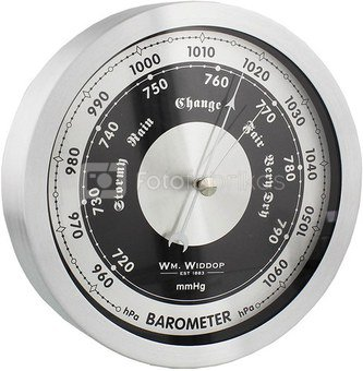 Barometras apvalus metalinis H:15 W:15 D:3 cm. W9502