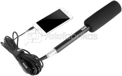 BOYA BY-BCA6 XLR to 3.5mm mikrofono adapteris su laidu