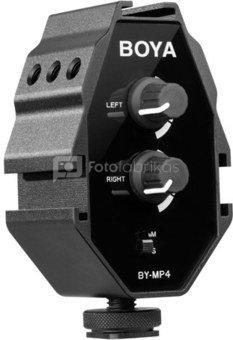 BOYA BY-MP4 garso adapteris