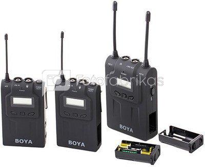 BOYA BY-WM8 UHF Dual-Channel Wireless Microphone System
