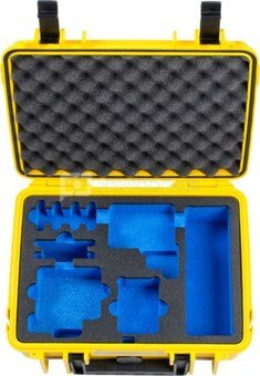 BW OUTDOOR CASE TYPE 1000 FOR GOPRO HERO 5/6/7 WATERPROOF HOUSING, BATTERIES, DUAL CHARGER,YELLOW