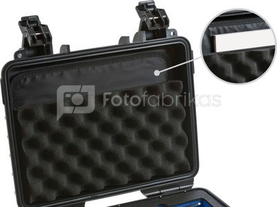 BW OUTDOOR CASES LP LID POCKET /LP FOR TYPE 1000