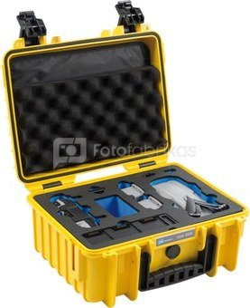 BW OUTDOOR CASES TYPE 3000 FOR DJI MAVIC AIR 2 FLY MORE COMBO, UP TO 5 BATTERIES YELLOW