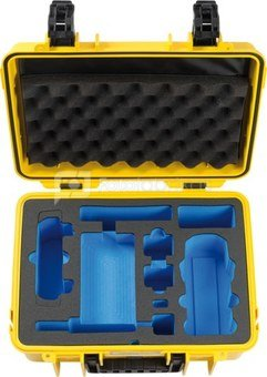 BW OUTDOOR CASES TYPE 4000 FOR DJI MAVIC AIR 2 FLY MORE COMBO (CHARGE-IN-CASE) YELLOW