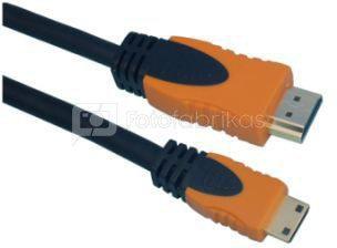 Kabelis HDMI - HDMI mini, 1.5m.
