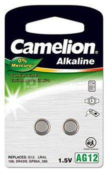 Camelion AG12/LR43/LR1142/386, Alkaline Buttoncell, 2 pc(s)