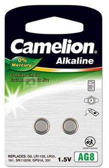 Camelion AG8/LR55/LR1121/391, Alkaline Buttoncell, 2 pc(s)