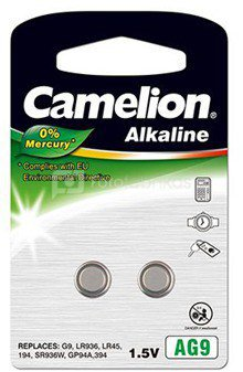 Camelion AG9/LR45/LR936/394, Alkaline Buttoncell, 2 pc(s)