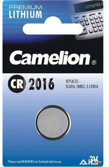 Camelion Lithium Button celles 3V (CR2016), 1-pack 1-pack maitinimo elementai