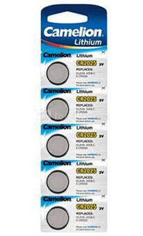 Camelion Lithium Button celles 3V (CR2025), 5-pack