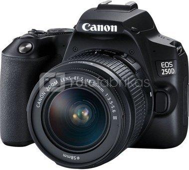 Canon EOS 250D + 18-55mm III + 16GB + Valymo servetėlė + Krepšys