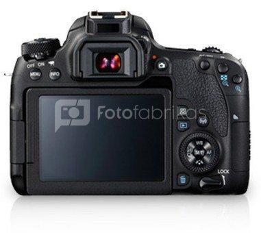 "Canon EOS 77D + EF-S18-55 F4-5.6 STM SLR Camera Kit, Megapixel 24.2 MP, Image stabilizer, ISO 25600, Display diagonal 3.0 "", Wi-Fi, Video recording, TTL, CMOS, Black"