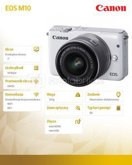 Canon EOS M10 + 15-45mm f/3.5-6.3 EF-M IS STM (Baltas)