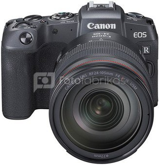 Canon EOS RP +RF 24-105mm f/4L + MT adapteris
