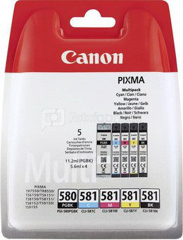 Canon PGI-580/CLI-581 PGBK/C/M/Y/BK Ink Multipack