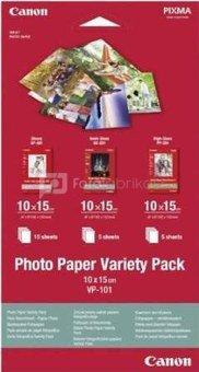 Canon VP-101 Photo Paper Variety Pack 10x15 cm, 1x10 a. 2x5 Sheet